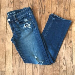 American Eagle Ripped Jeans Straight Sz 6 Short